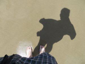 chodidlo v brazilském písku